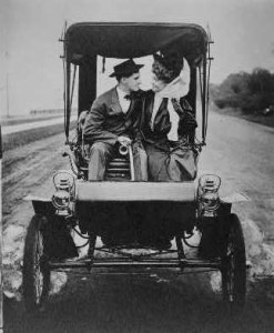 couple in an automobile