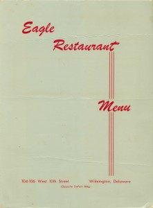 Eagle Restaurant menu