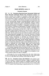 1915 statutes licenses